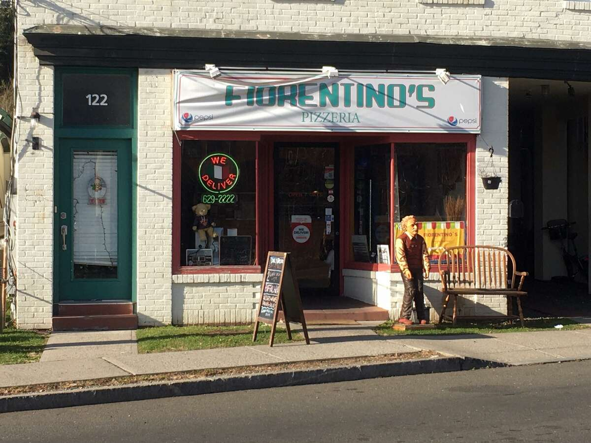 A health inspector found a can of window cleaner on a shelf above a food-surface area at Fiorentino's Pizza in Cos Cob.