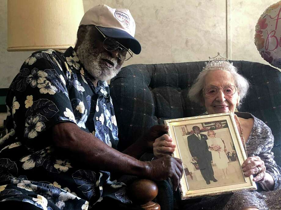 Victor and Peggy are clients of Meals on Wheels of Montgomery County. Peggy is 105 years old and they are grateful for the support of MOWMC. Photo: Courtesy Photo