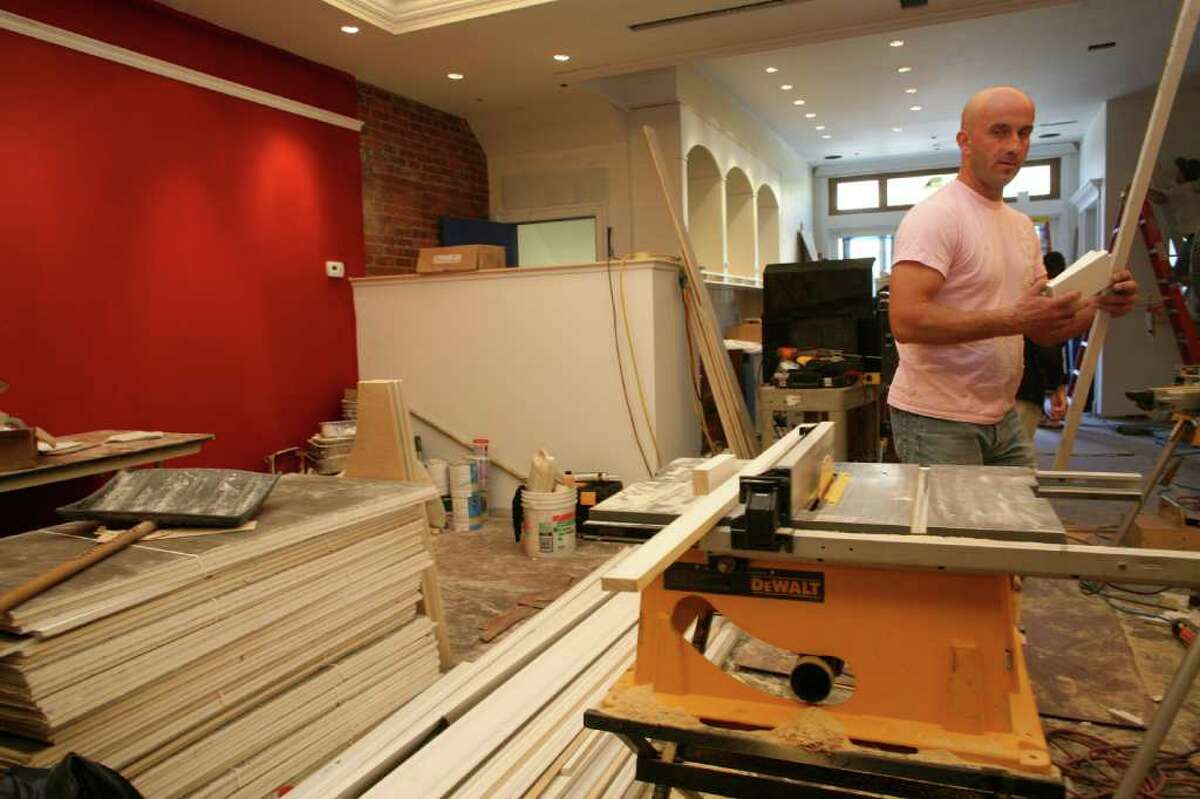 The new Versailles restaurant is under construction as it moves from 315 Greenwich Ave. to 339 Greenwich Ave.