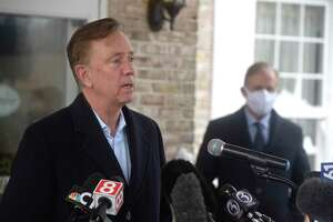 Governor Ned Lamont held a news conference at The Reservoir in West Hartford to announce the launch of Connecticut's nursing home COVIS-19 vaccination program. Friday, December 18, 2020, in West Hartford, Conn.