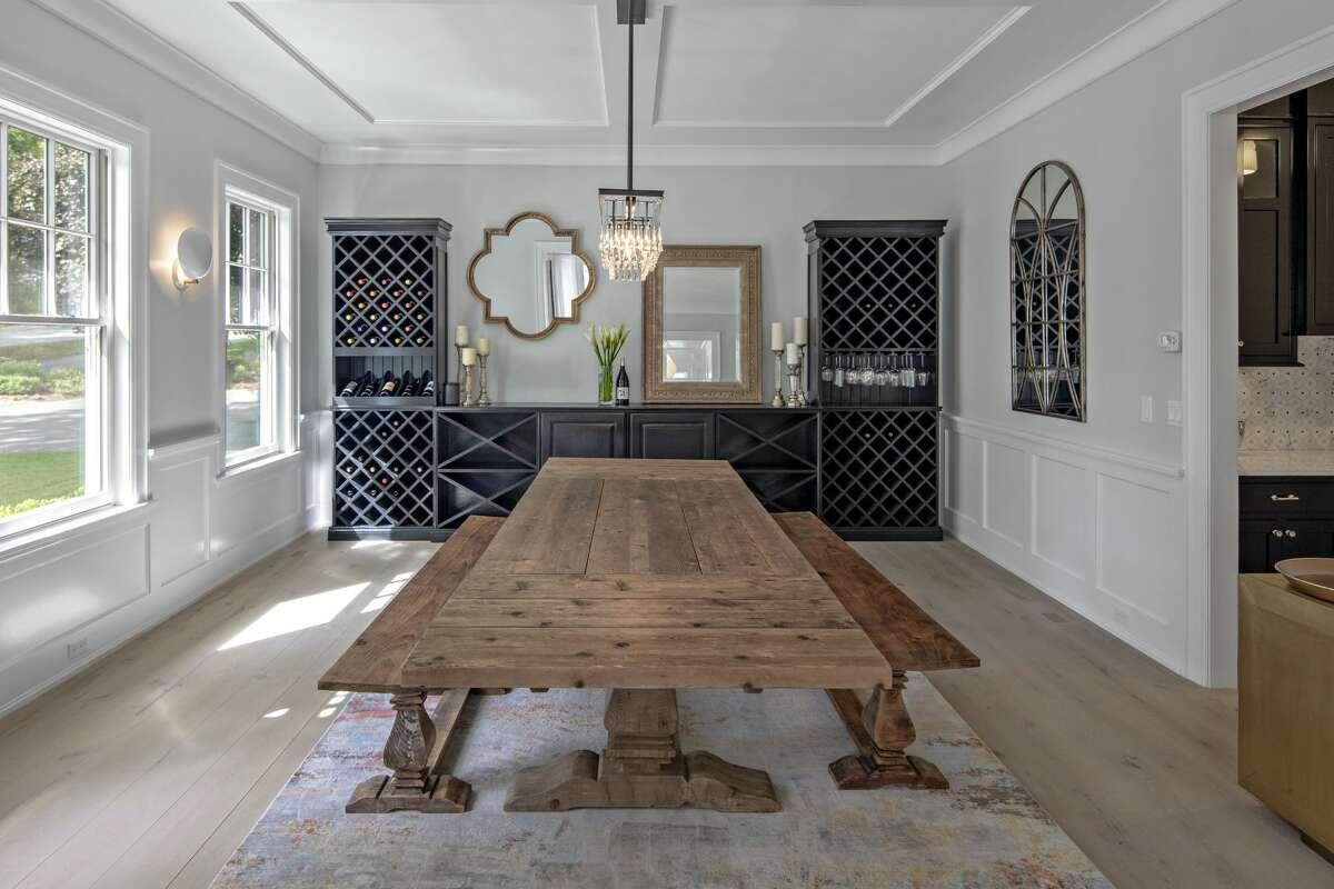 Dining room at 2 Hidden Hill Road, Westport.