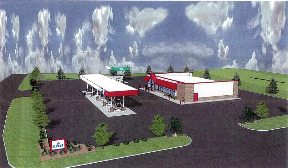 This image is an outline of Krist Oil Company, Inc.'s proposal to build a new gas station at what is known as the former Hanchett property in Big Rapids. On Monday, Big Rapids city commissioners rejected the company's offer to purchase the property. (Courtesy photo)