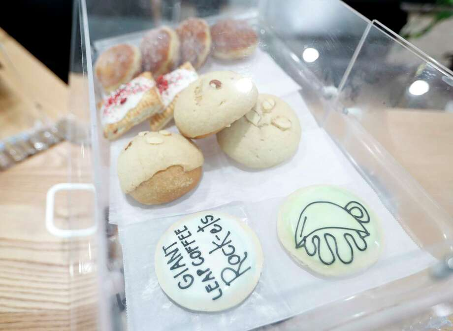 Cookies, pan dulce and other snacks from Tlahuac on the counter at Giant Leap Coffee, currently located inside of How to Survive on Land & Sea Photo: Karen Warren, Staff Photographer / © 2020 Houston Chronicle