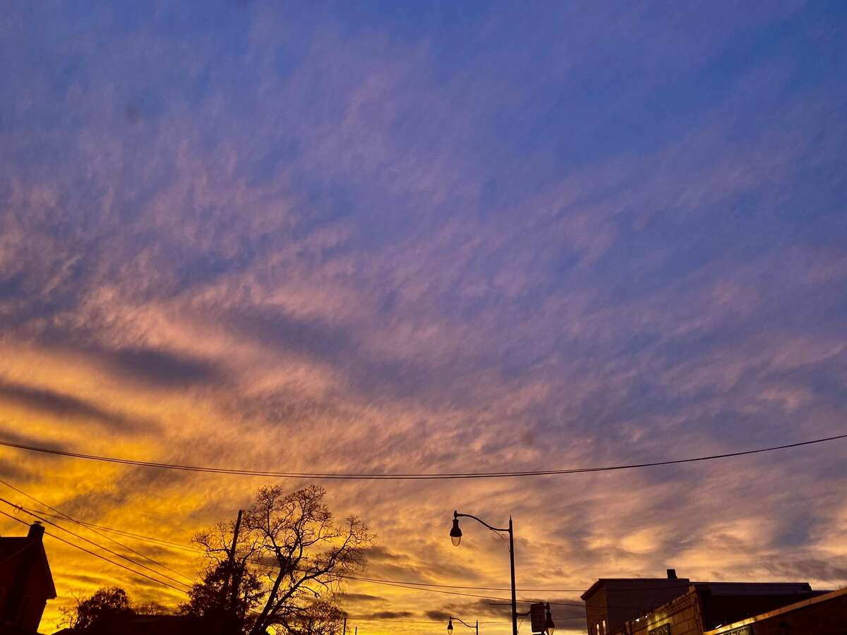 Rose Burke found this sunset on Betwood Street in Albany in November.
