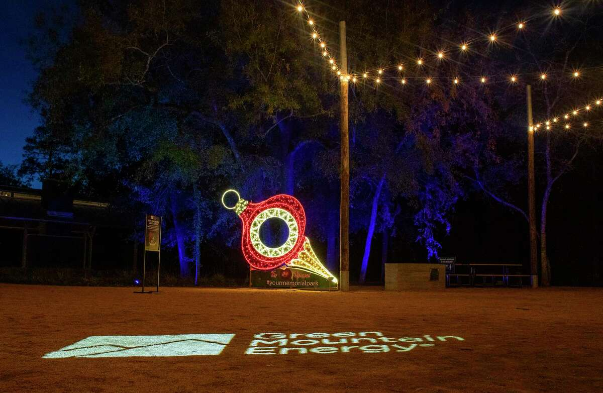 Memorial Park's Eastern Glades is lit up for the holidays through a partnership with Green Mountain Energy that is matching the electricity used with renewable energy credits.