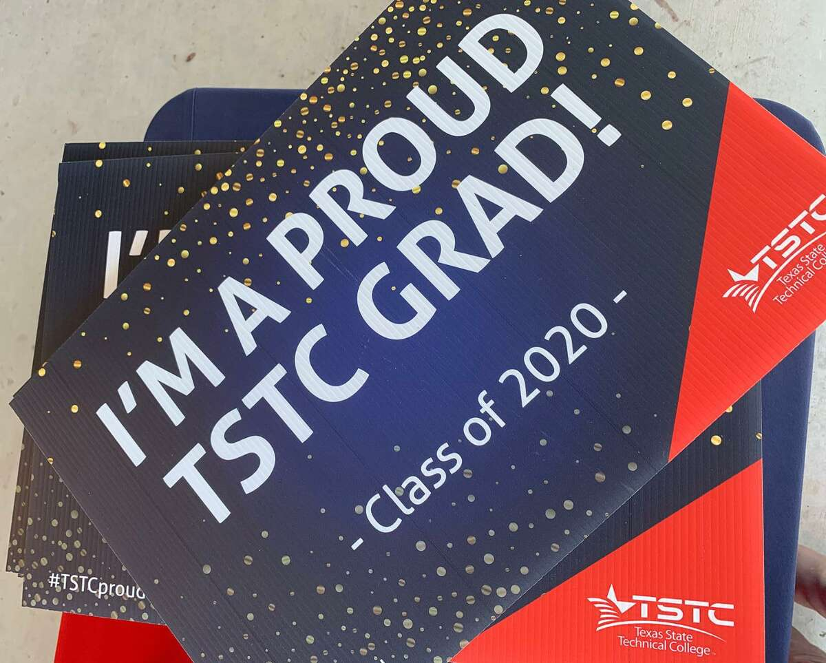 """Texas State Technical College's graduating students were invited to pick up """"grad swag"""" bags at the 10 campuses this week. TSTC held a virtual graduation celebration via social media on Dec. 10."""