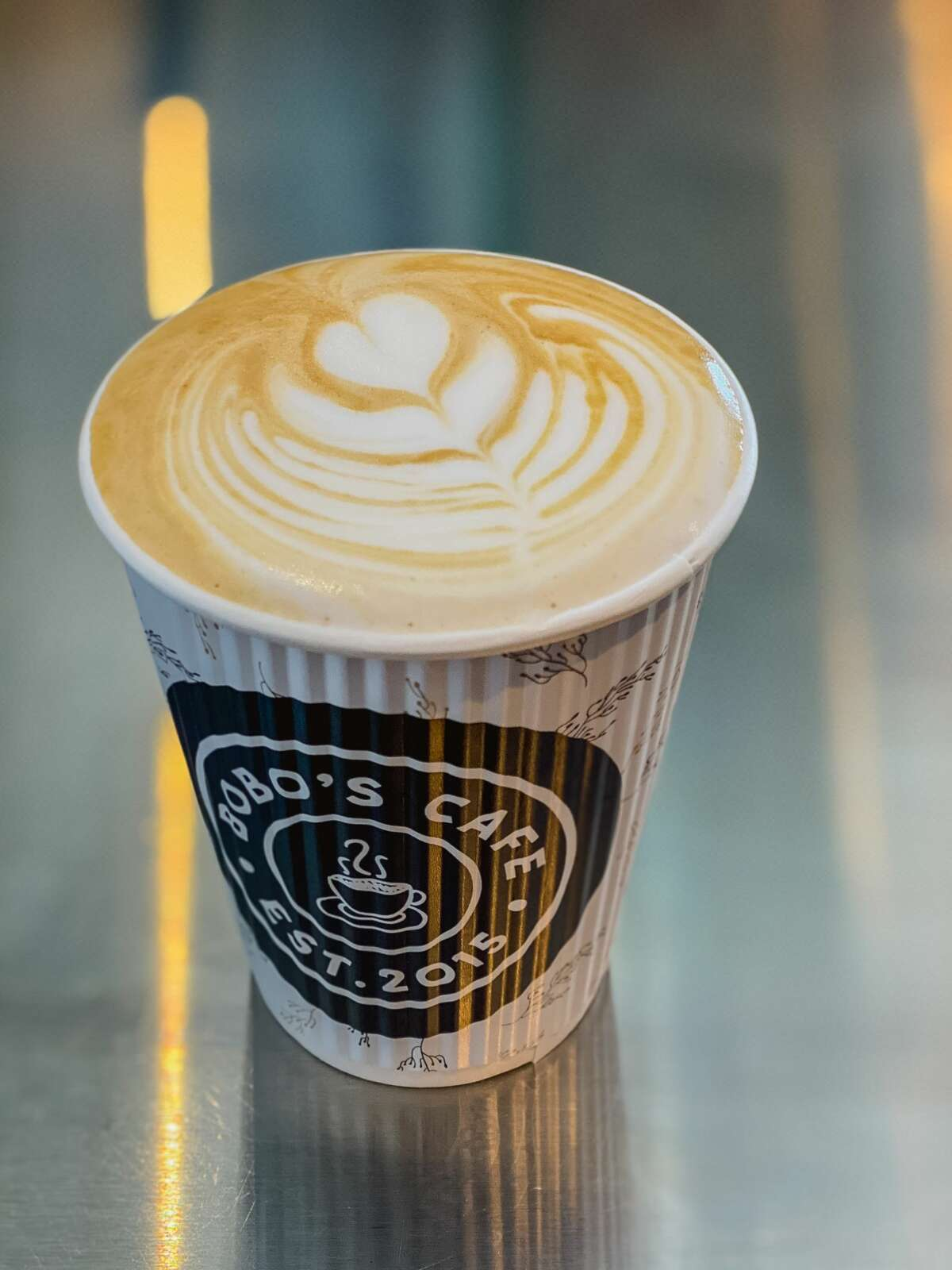 """Coffee from Bobo's Cafe in Ridgefield. """"We were already very familiar with Ridgefield and the town,"""" said co-owner Glen Bernardi, who launched the business in 2015 alongside his brother, father and a family friend. His grandfather, Bo Bernardi, who operated delis in and around Yonkers, N.Y., decades ago, is the namesake for the café. """"It was our grandfather's nickname,"""" Glen said, noting that family and building relationships is at the heart of sustaining the business for them."""