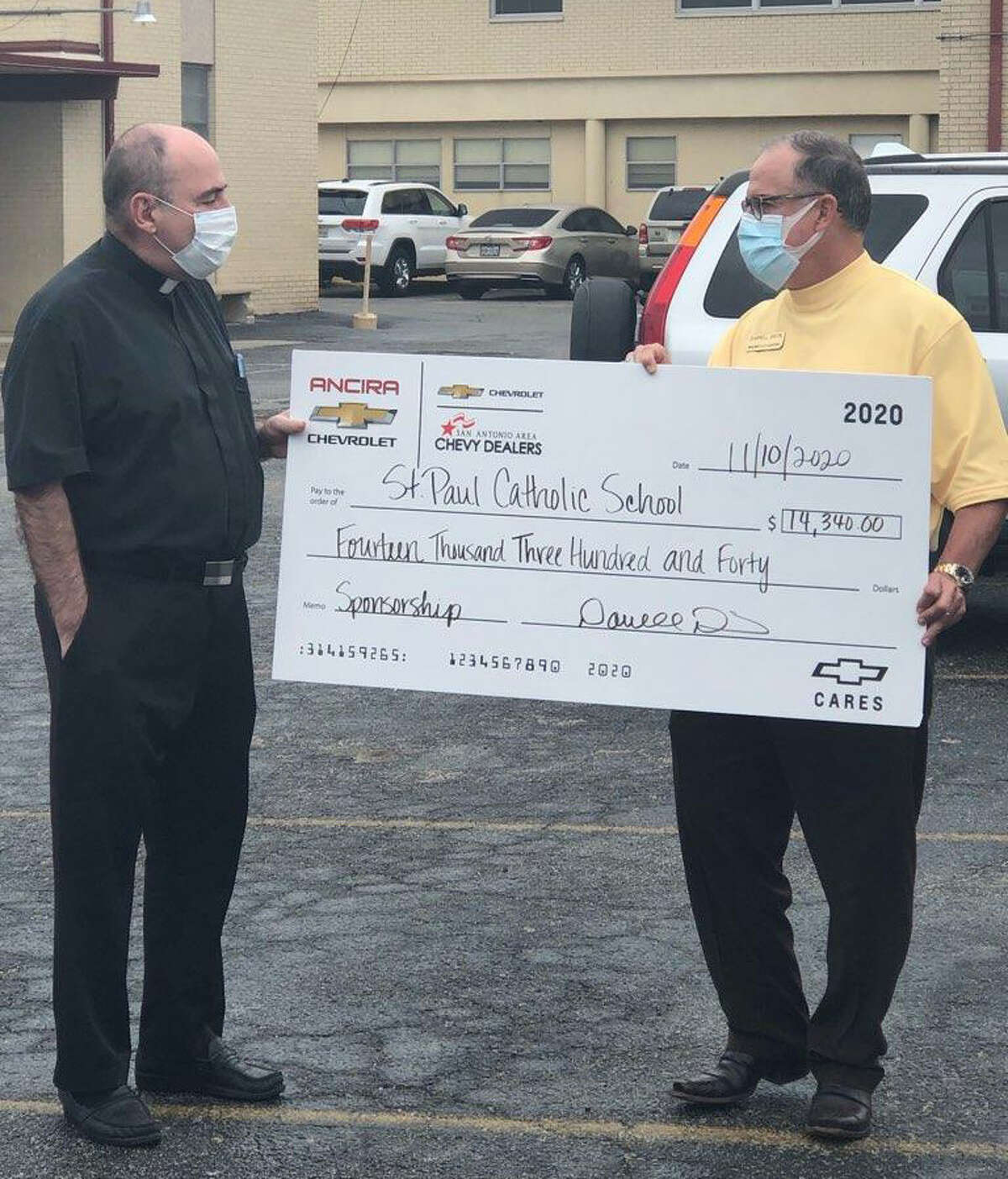 This year, Ancira Winton Chevrolet opted to contribute in a big way to four area schools by offering special sponsorships.