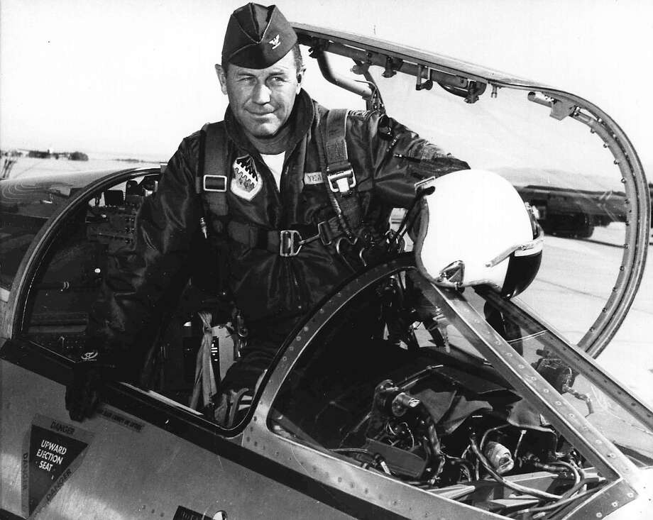 This 1962 photo shows then-Col. Yeager at Edwards AFB, where he commanded the test pilot school. Photo: USAF/AFP Via Getty Images / AFP