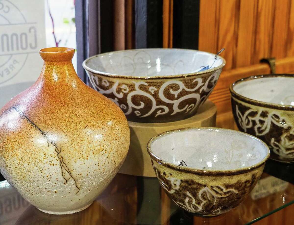 """Pottery, paintings, photographs, jewelry and more - all handcrafted - are on display at Gallery 25 in New Milford. The gallery is seeking artists for """"When the Snow Flies,"""" and through Jan. 9 will be giving away canvases, watercolor paper and pastel paper to visitors who would like to participate in its """"Spring Emergence"""" show. There's no fee to enter your creation."""