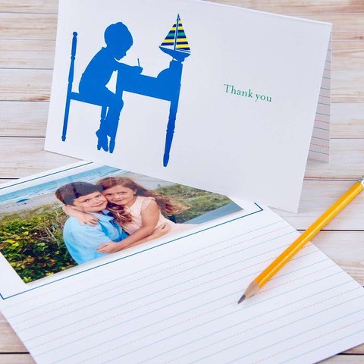 Coral & Blue cards have room for children to write, draw or add a photo.
