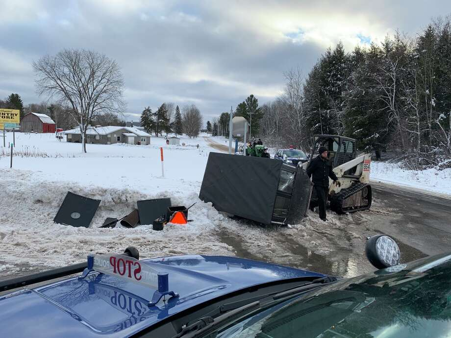 Michigan State Police troopers were dispatched to the area of M-115 at 70th Road on Tuesday for crash involving a horse-drawn buggy and a Chevrolet Tahoe. Photo: Photo Courtesy Of Michigan State Police