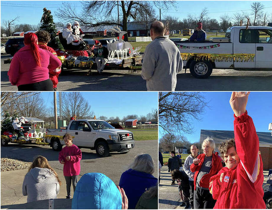 Monday's December weather proved perfect for a Christmas parade at Beverly Farm in Godfrey.