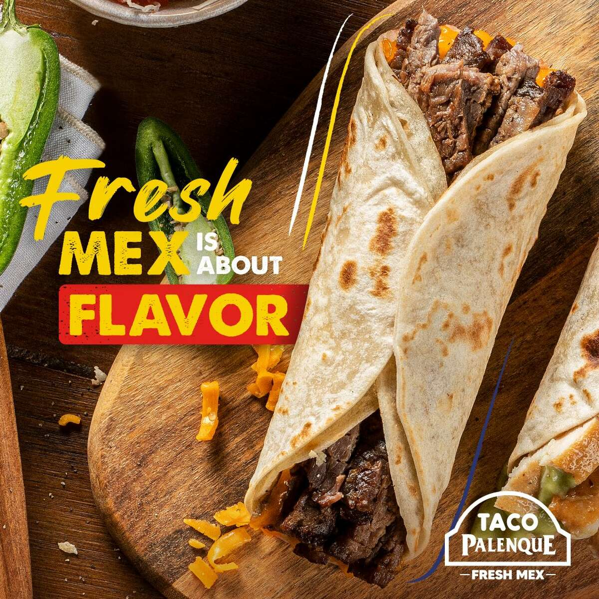 The Pirata from Taco Palenque is pictured in this press photo.