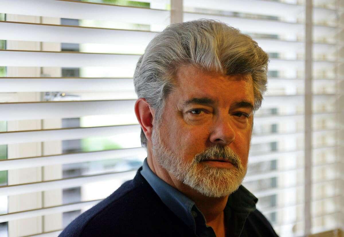 George Lucas poses at Skywalker Ranch in San Rafael, Calif., Wednesday May 4, 2005.