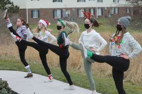 The Conservatory of Dance spread a little holiday cheer Tuesday by performing at Green Acres and the Manistee County Medical Care.