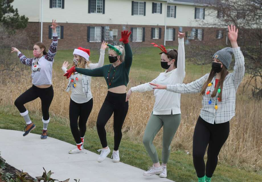 The Conservatory of Dance spread a little holiday cheer Tuesday by performing at Green Acres and the Manistee County Medical Care. Photo: Kyle Kotecki/News Advocate
