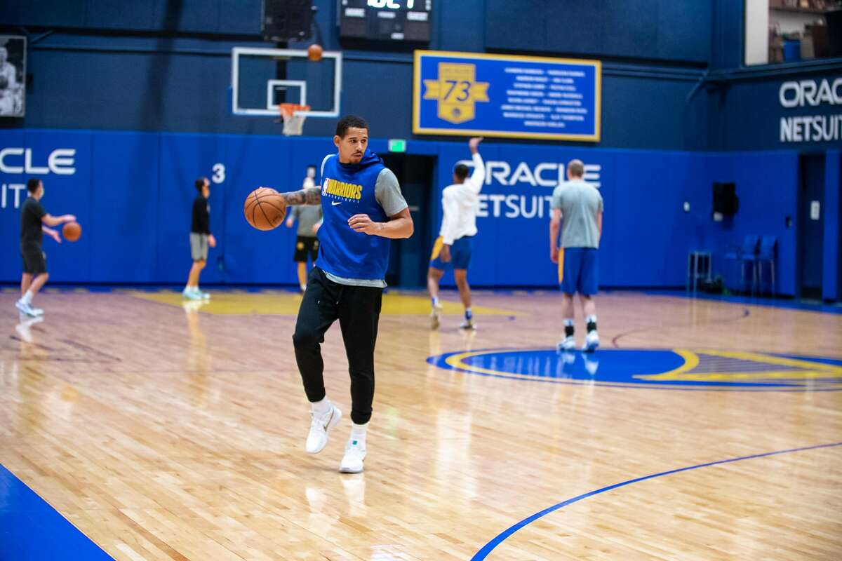 Juan Toscano-Anderson at the Golden State Warriors?• practice at Chase Center in San Francisco, Calif. on Thursday, Dec. 10, 2020.