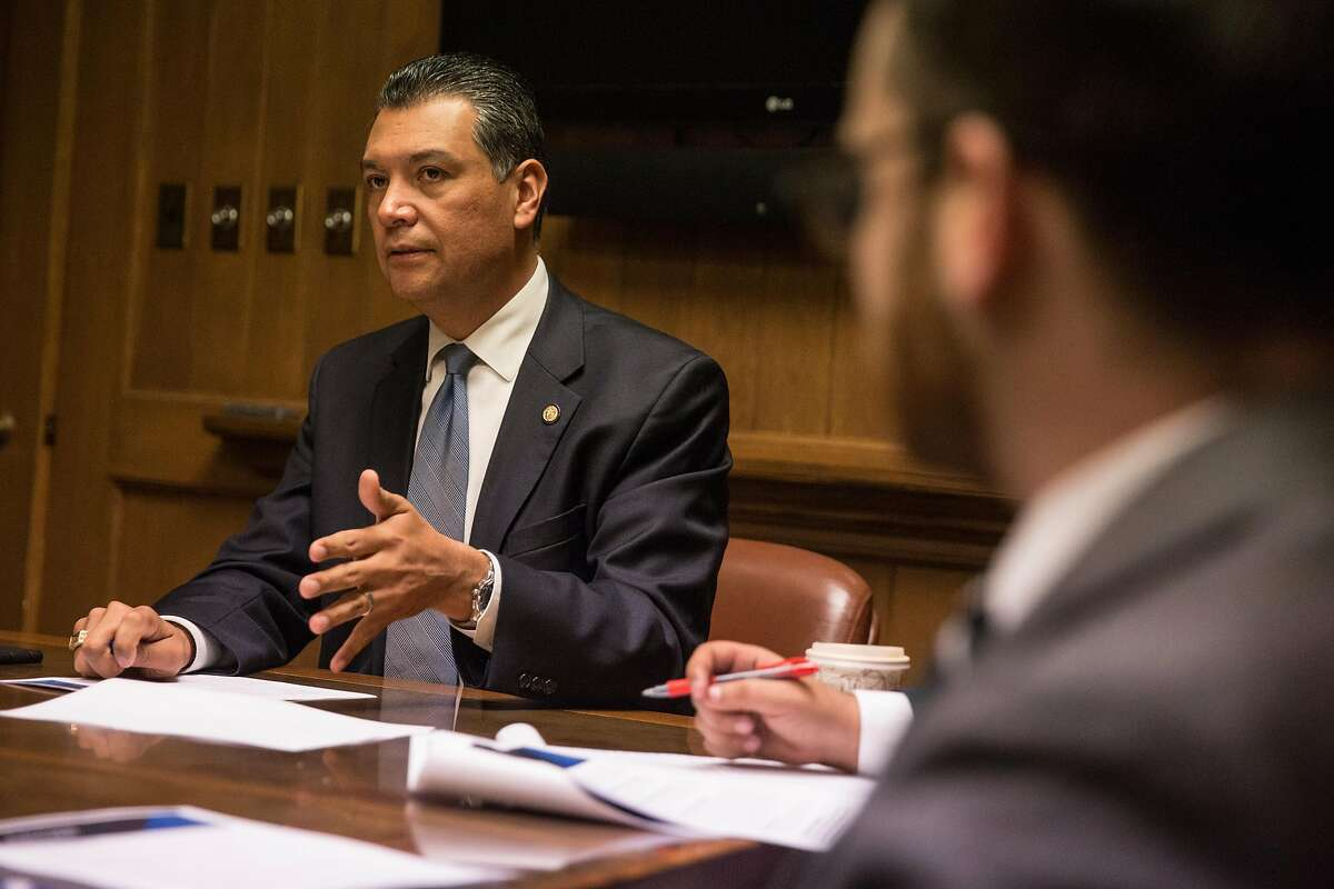 California Secretary of State Alex Padilla will replace Sen. Kamala Harris in the U.S. Senate.
