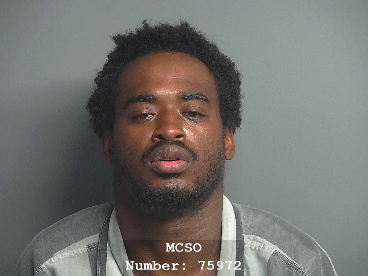 Brice Seantavayawn Harrison, 24, of Conroe, is being charged with two counts of aggravated robbery, a first-degree felony.