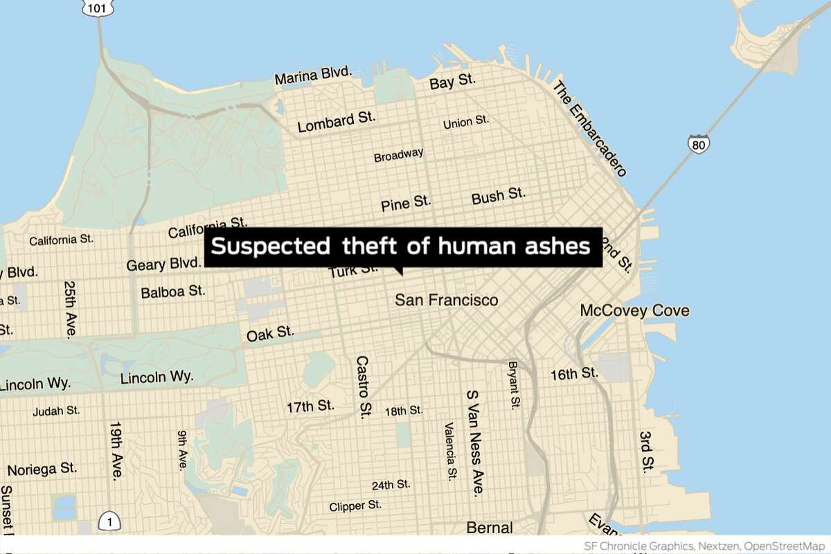 San Francisco police arrested a wanted drug dealer this month after he was caught on camera allegedly stealing a locket that contained cremated ashes, officials said Tuesday.