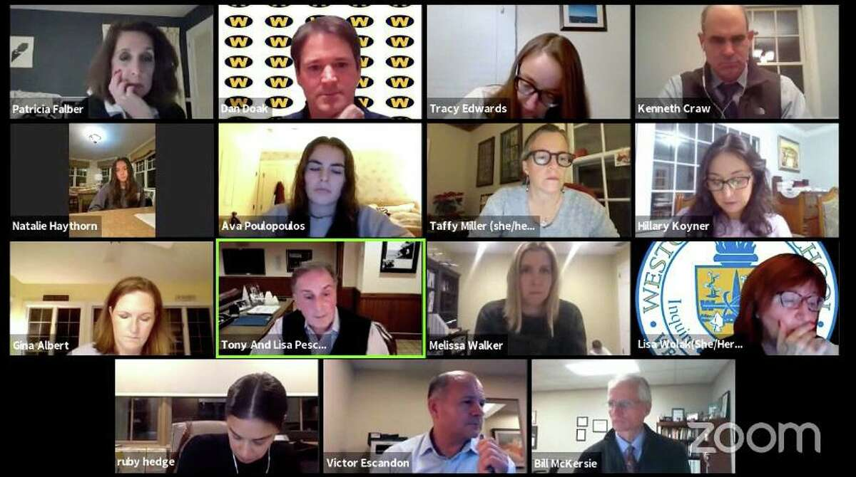 The Weston Board of Education held a virtual meeting on Monday, Dec. 21, 2020.