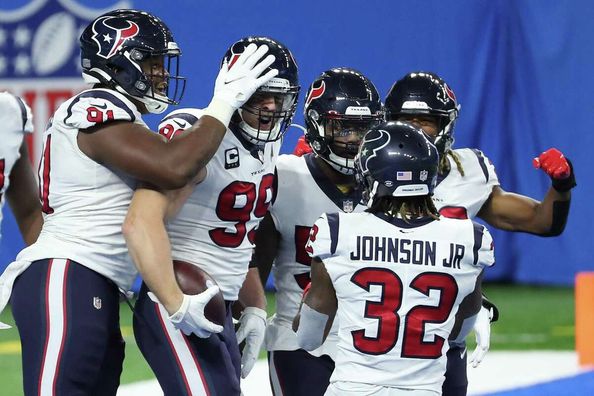 J.J. Watt is tied for the team lead for interceptions with one, which isn't necessarily a good thing for a defense.