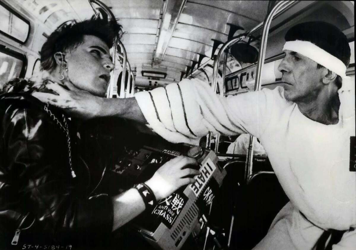 Kirk Thatcher (left) and Leonard Nimoy star in