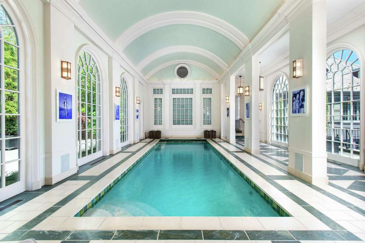 4 Cowdray Park Drive - part of the historic Conyers Farm Association - is currently on the market for $30 million. Sotheby's International Realty represents the seller of this amenities-rich home, designed by Steven Gambrel. Among the amenities are two pools - one outside and one inside.