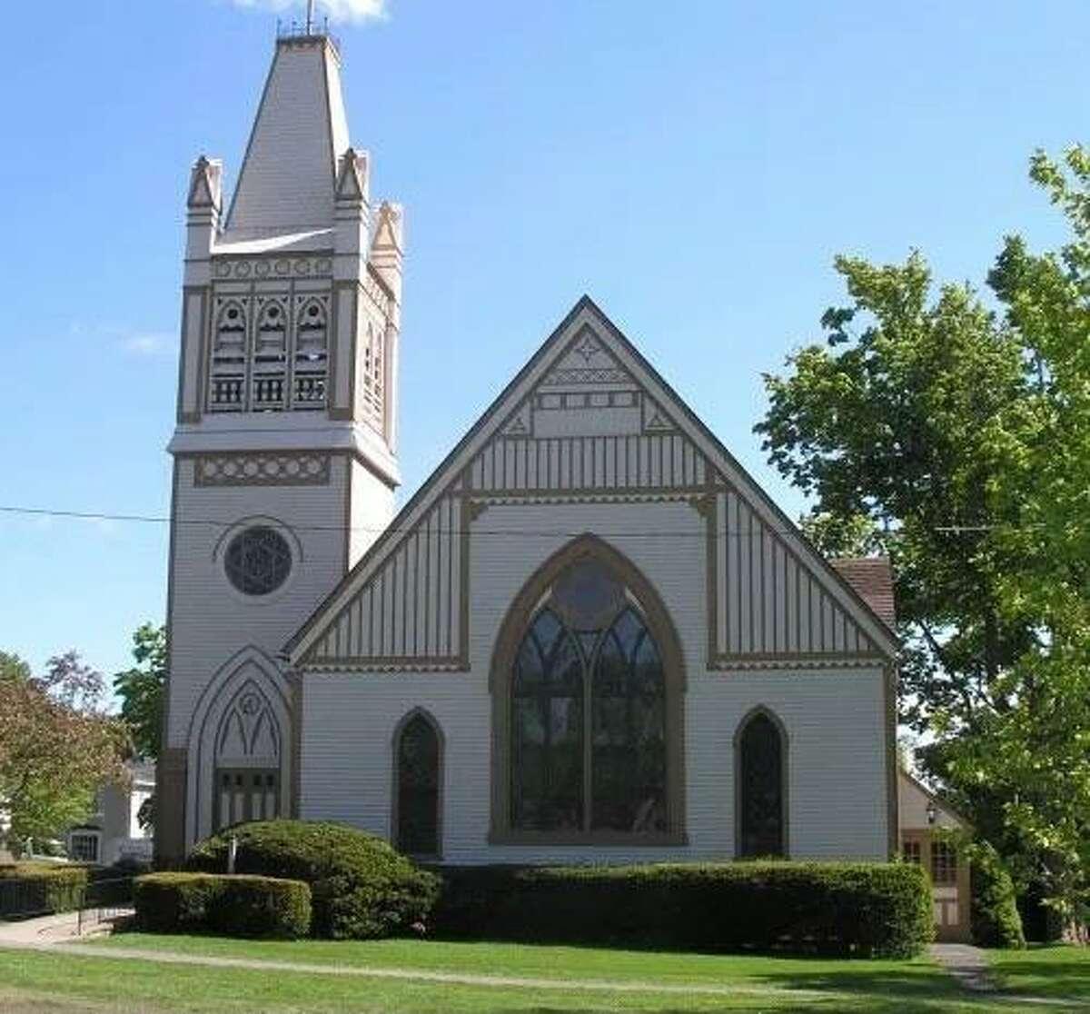The historic United Methodist Church in Litchfield.