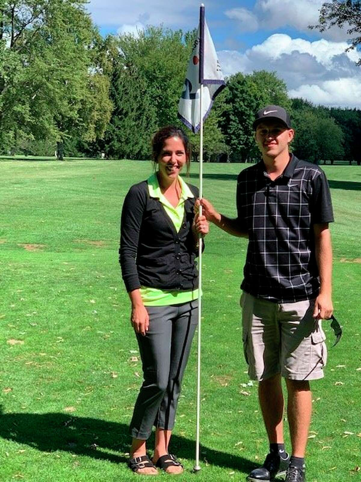 Caseville Golf Course recently announced their club champs. They are, left, Crystal Glaza-101 18-hole total and, right, Skylir Fillion-150 36 hole total. (Submitted Photo)