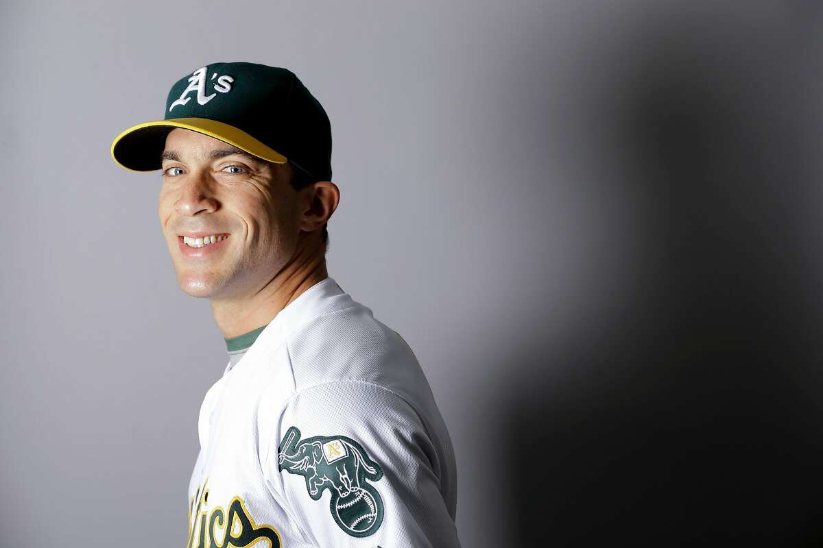 This is a 2016 photo of Sam Fuld of the Oakland Athletics baseball team. This image reflects the Oakland Athletics active roster as of Monday, Feb. 29, 2016, when this image was taken. (AP Photo/Chris Carlson)