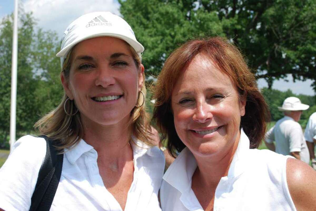 """Actresses Cassie DePaiva, left, and Hillary B. Smith of """"One Life to Live"""" at the 23rd annual Jerry Sr. Memorial Celebrity Golf Tournament."""