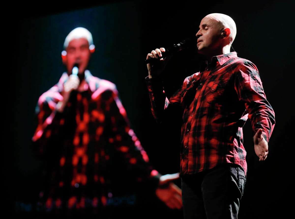 Worship Pastor Justin Adams sings as 50 volunteers and staff members prepare four Christmas Eve services for both in-person and online worshipers at The Ark Church, Wednesday, Dec. 22, 2020, in Conroe.