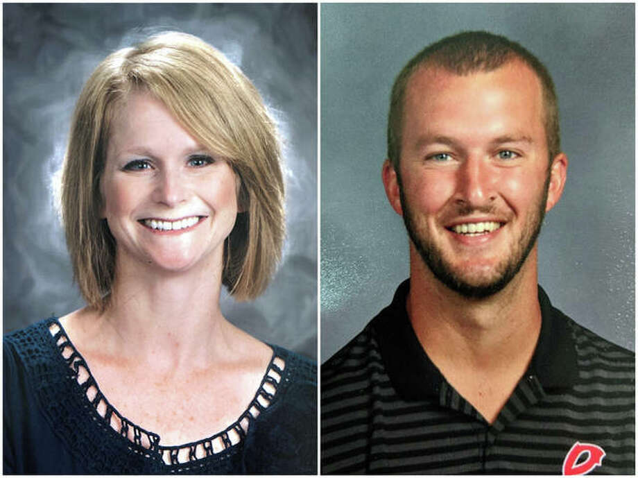 Rebecca Artime and Cole Stoner are members of the Southern Illinois University Edwardsville educational administration graduate program.