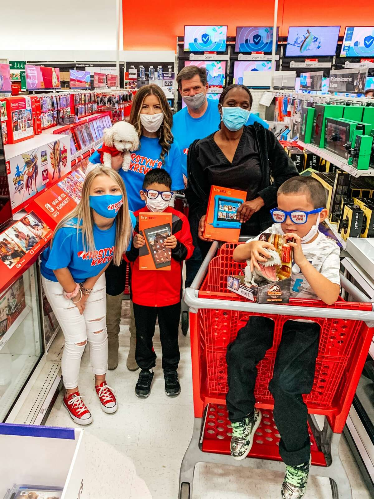 It started out small, but now Kirstyn's Krew takes about 225 Houston-area kids on a Christmas shopping spree.