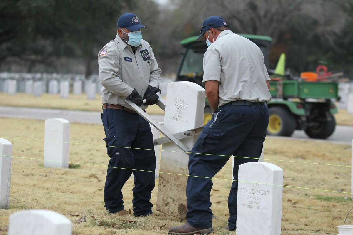 Ft. Sam Houston National Cemetery workers recently removed two German World War II headstones with Nazi inscriptions. The headstones should never have been put up.