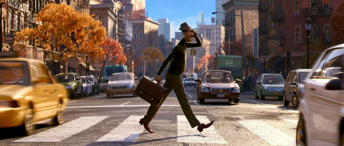 """""""Soul"""" is an animated film about a frustrated musician named Joe (voice of Jamie Foxx)."""