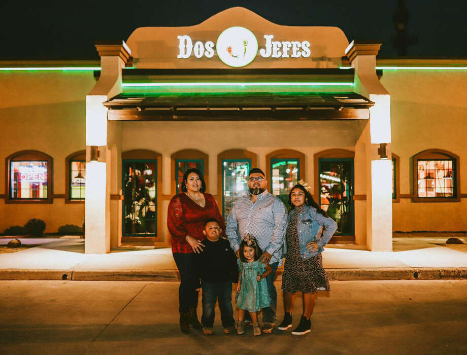 Tony Flores, pictured with his wife Diana, daughers Leila and Isa and son Thiago, has broken into his third business venture by becoming co-owner of Dos Jefes. Photo: Photo Provided By Tony Flores