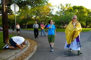 In 2020, a year of painful and epic drama, I witnessed Father Pat O'Brien take the Eucharist out from his church, closed due to COVID-19, and into the streets of San Antonio. His march around a neighborhood was broadcast on Facebook Live as one of the faithful paid homage. This scene was a reflection of the human heart and its indomitability.