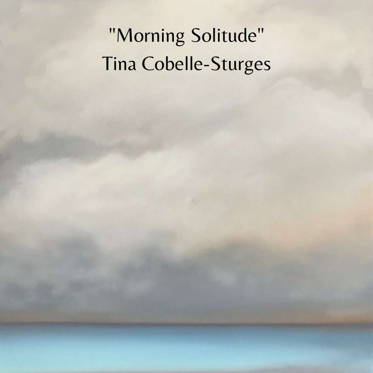 Ridgefield Artist Tina Cobelle-Sturgese' 36-inch-by-36-inch oil on canvas oceanscape artwork titled: