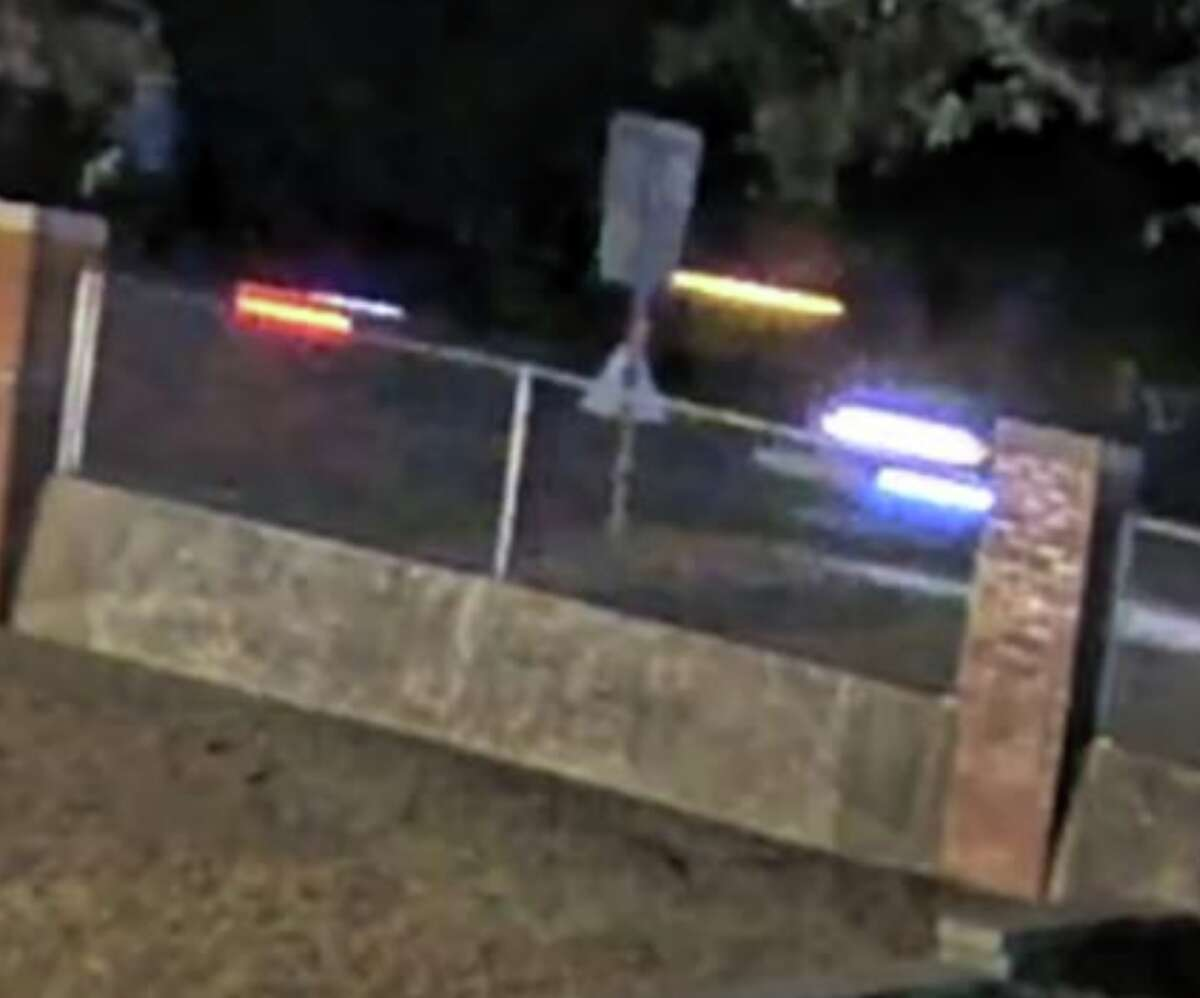 A blurry picture of the pickup truck that struck and killed a pedestrian in Helotes.