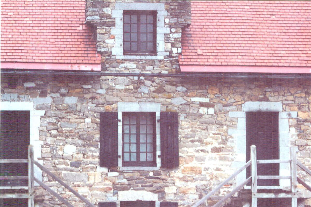 Daniel Frinta of Altamont was intrigued by this building in the courtyard of Fort Ticonderoga.