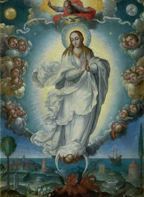 "Among the paintings in ""Glory of Spain"": Fray Alonso López de Herrera, O.P.'s ""Virgin of the Immaculate Conception,"" 1640, oil on copper. Photo: Hispanic Society Of America"