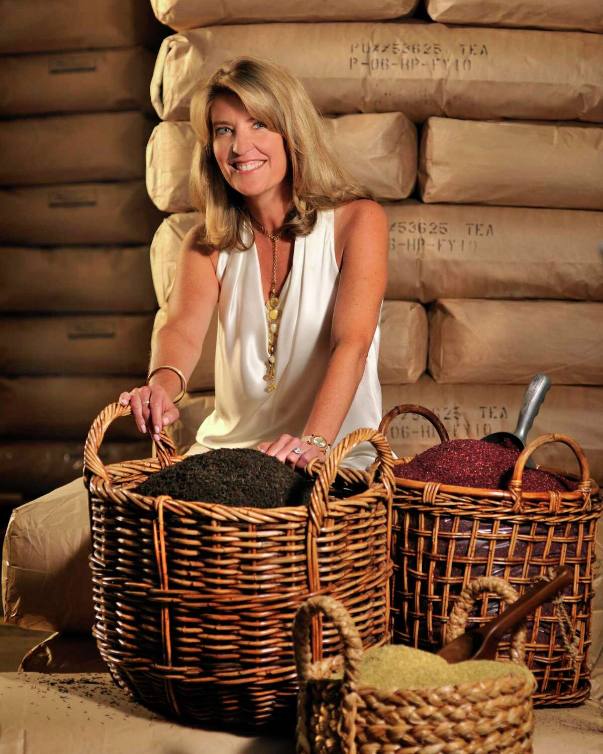 Above, Cindi Bigelow is the third-generation president and CEO of Bigelow Tea.