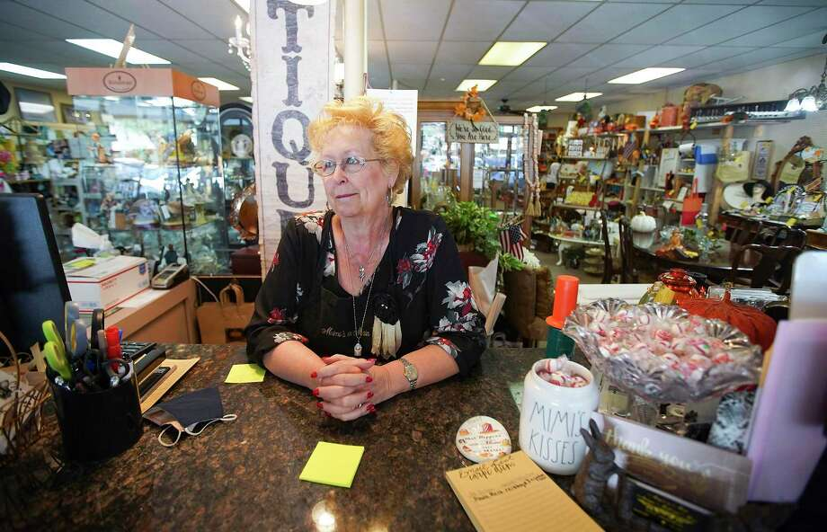 Gayle Burke owner of Mimi's on Main in downtown Conroe in her store in September 2020. The downtown businesses have had a difficult year but they're seeing a pick up as we head into 2021. Photo: Elizabeth Conley, Houston Chronicle / Staff Photographer / © 2020 Houston Chronicle