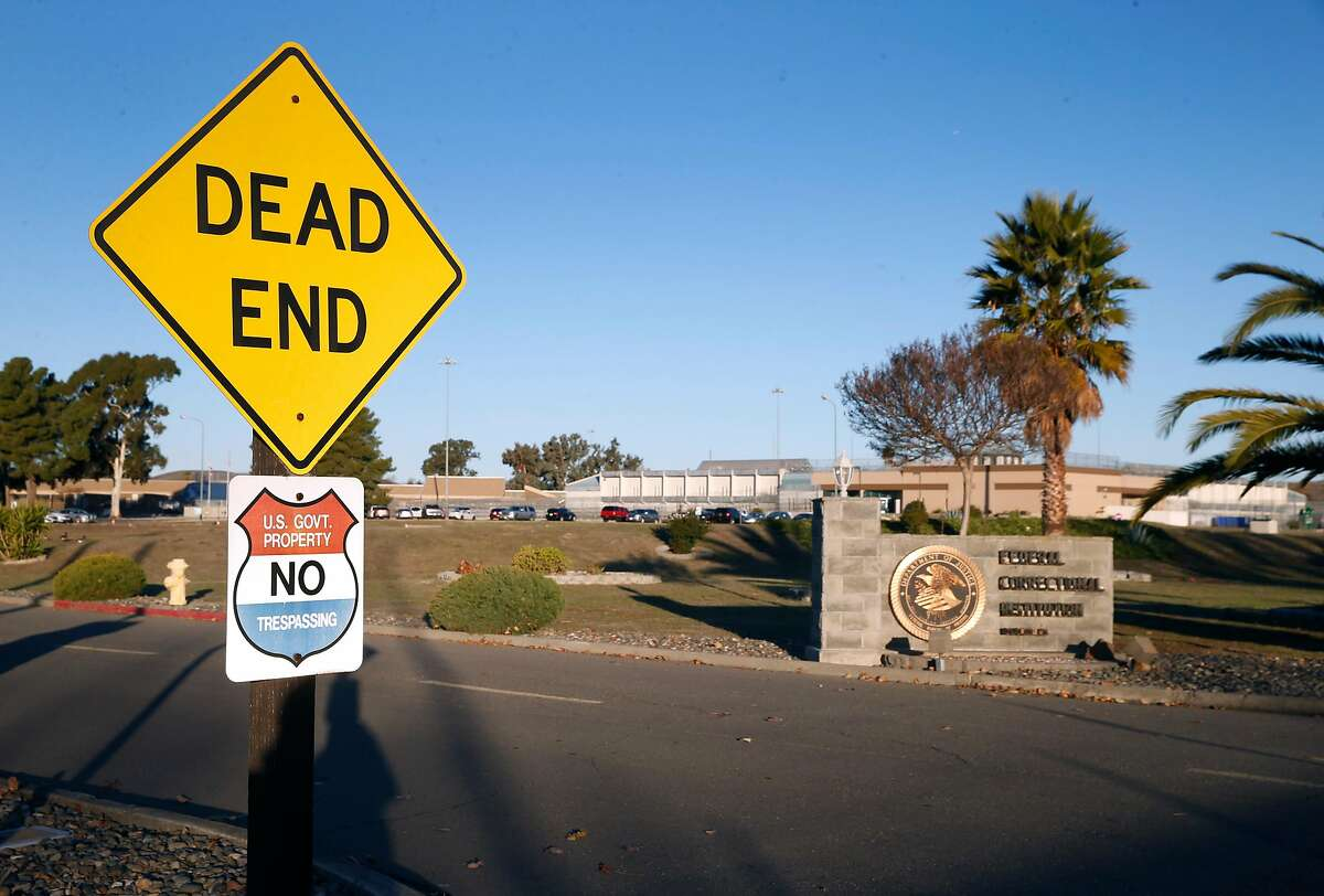 The Federal Correctional Institution is seen in Dublin, Calif. on Wednesday, Dec. 23, 2020 where an outbreak of the COVID-19 coronavirus has reportedly swept through the facility.