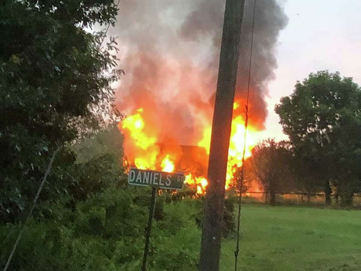 Middletown firefighters battled a blaze at the Middlesex Pool Tennis Club on Laurel Grove Road July 29, 2019.
