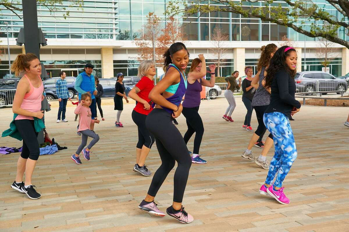 Zumba by Tiny Fitness at Levy Park.