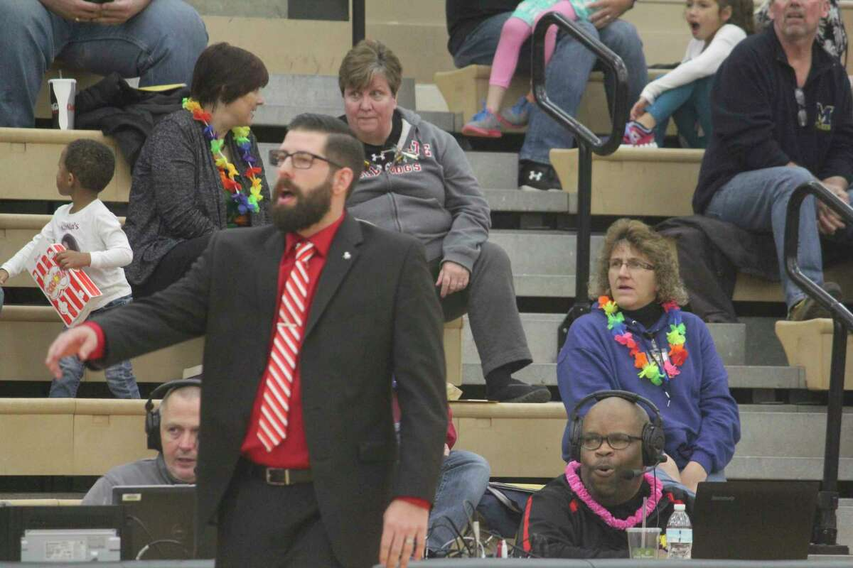 Coach Andy Bronekma and his Ferris State team will have two home men's basketball games next week. (Pioneer photo/John Raffel)